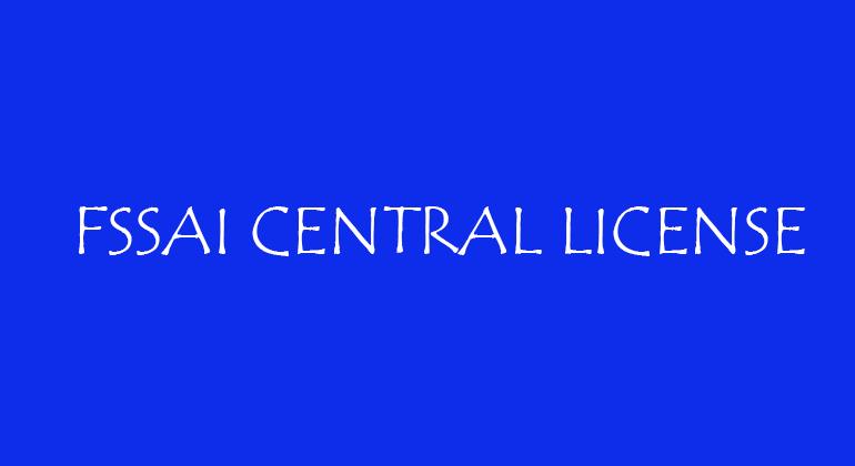 FSSAI Central License